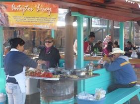 I venditori di antojitos a Divisadero