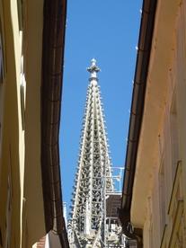Il campanile del Duomo gotico di Ratisbona