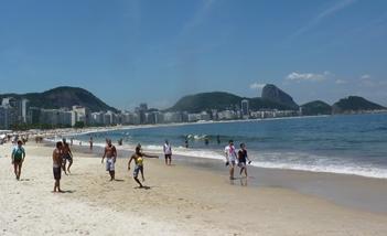 La celeberrima spiaggia di Copacabana
