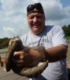 Con il bradipo Giovanni