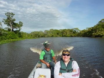 In barca lungo il Rio Miranda