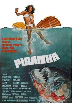 """La locandina del film """"Piranha"""" di Joe Dante"""