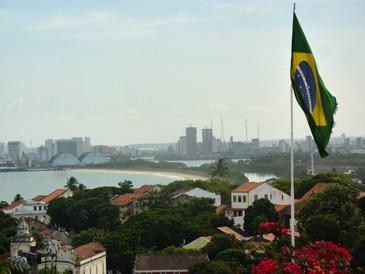 La baia di Recife vista dal centro