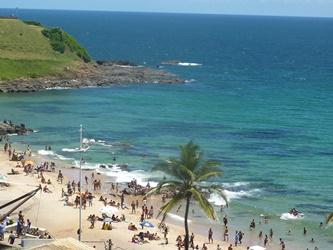 La spiaggia di Barra a Salvador de Bahia