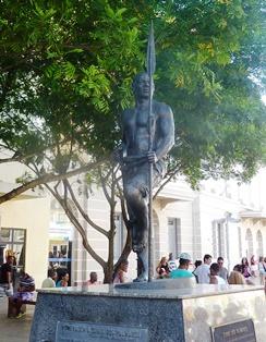 La statua di Zumbi dos Palmares al Pelourinho
