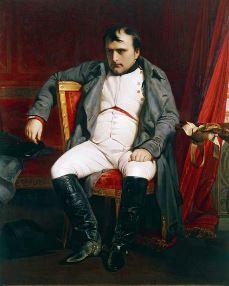 Napoleone ha abdicato, dipinto di Paul Delaroche