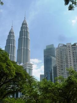 Le Petronas Twin Towers, simbolo di Kuala Lumpur