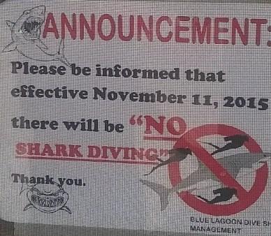 Grande delusione, quando ho visto questo cartello