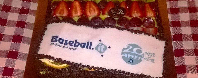 la torta dei 20 anni di baseball.it